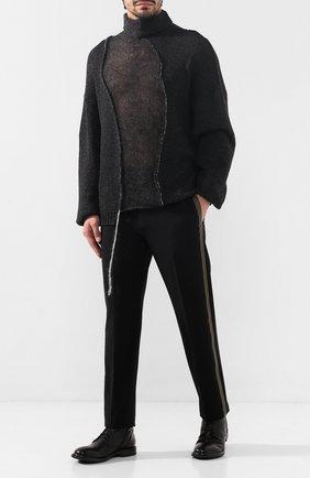 Мужской шерстяной свитер ISABEL BENENATO серого цвета, арт. UK22F19 | Фото 2