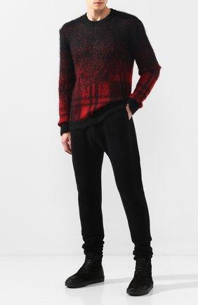 Мужской свитер ISABEL BENENATO черного цвета, арт. UK41F19 | Фото 2