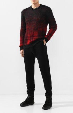 Мужской шерстяные брюки ISABEL BENENATO черного цвета, арт. UK74F19 | Фото 2
