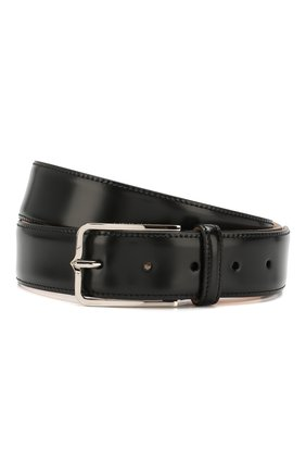 Мужской кожаный ремень CORNELIANI черного цвета, арт. 00V301-0020830/00 | Фото 1