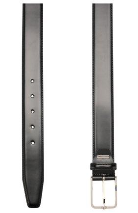 Мужской кожаный ремень CORNELIANI черного цвета, арт. 00V301-0020830/00 | Фото 2