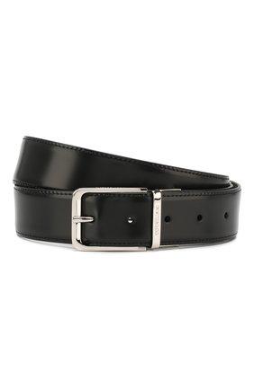 Мужской кожаный ремень CORNELIANI черного цвета, арт. 00V305-0020849/00 | Фото 1