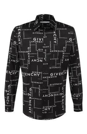 Мужская хлопковая рубашка GIVENCHY черно-белого цвета, арт. BM60F612DS | Фото 1
