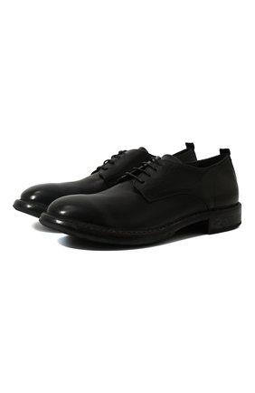 Мужской кожаные дерби MOMA черного цвета, арт. 2AW003-CU | Фото 1