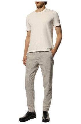 Мужской кожаные дерби MOMA черного цвета, арт. 2AW003-CU | Фото 2