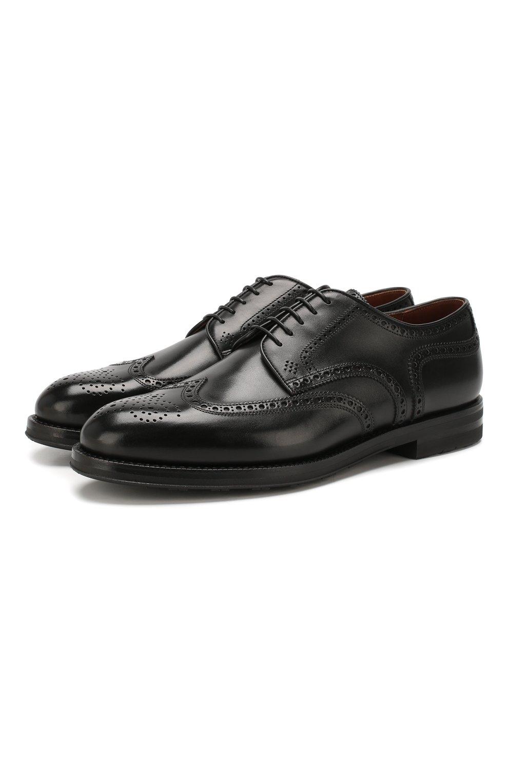 Мужские кожаные дерби W.GIBBS черного цвета, арт. 0639019/0149 | Фото 1