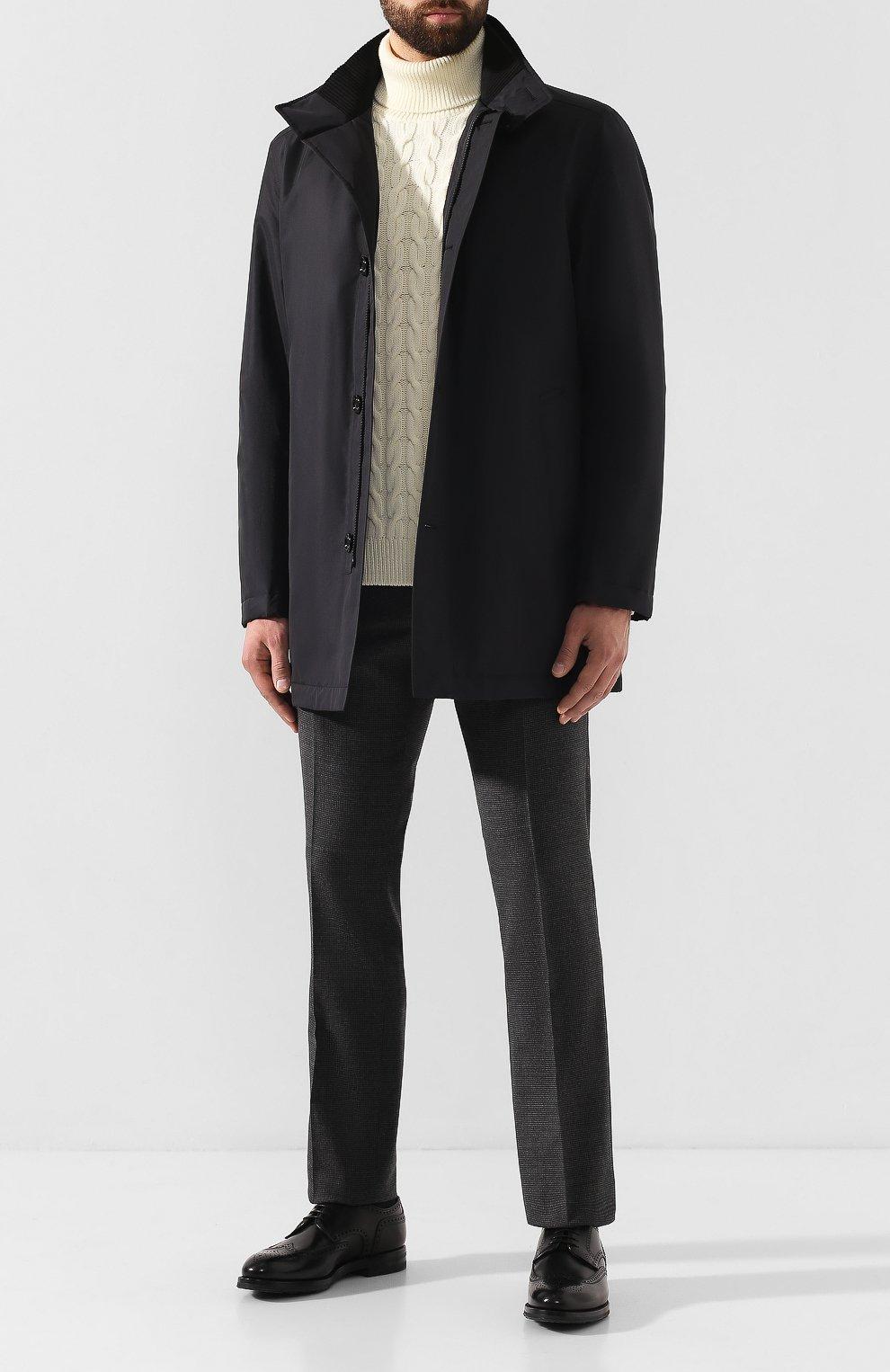 Мужские кожаные дерби W.GIBBS черного цвета, арт. 0639019/0149 | Фото 2