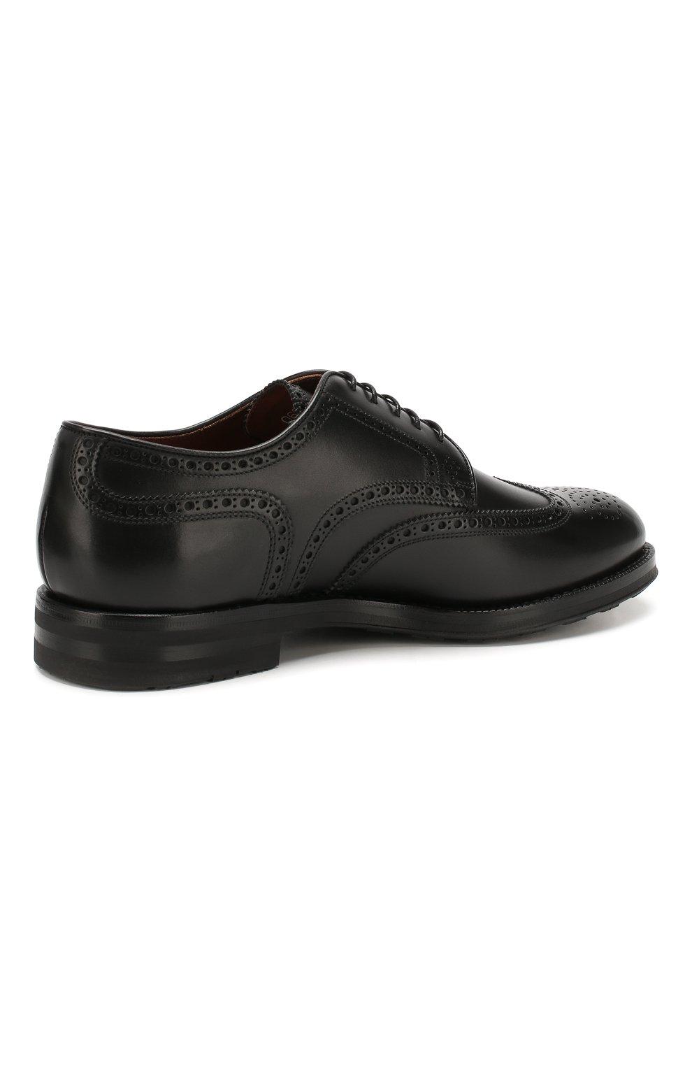 Мужские кожаные дерби W.GIBBS черного цвета, арт. 0639019/0149 | Фото 4
