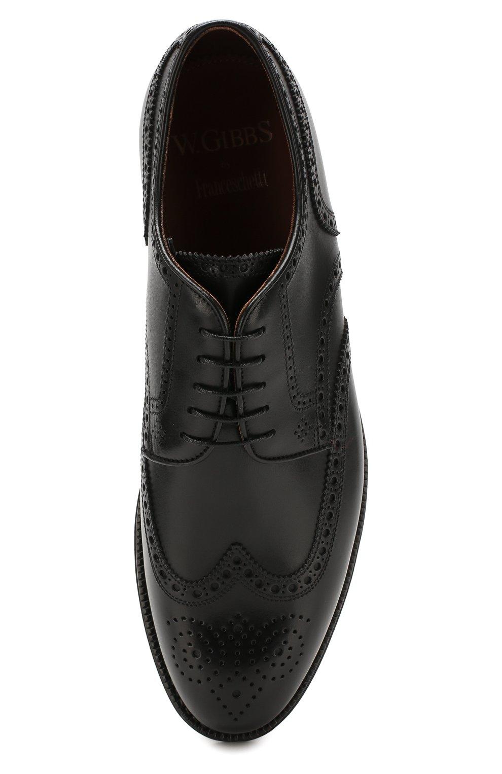 Мужские кожаные дерби W.GIBBS черного цвета, арт. 0639019/0149 | Фото 5