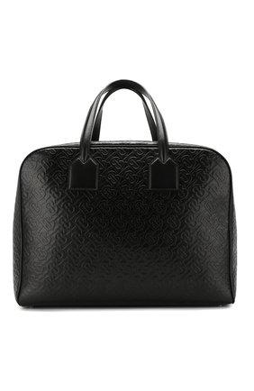 Мужская кожаная дорожная сумка cube BURBERRY черного цвета, арт. 8012657 | Фото 1