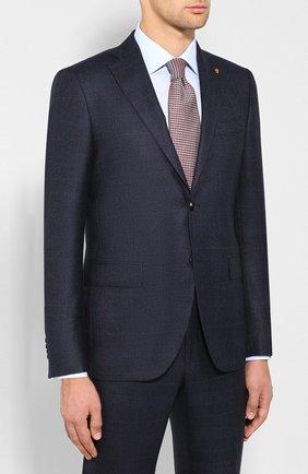 Мужской шерстяной костюм SARTORIA LATORRE темно-синего цвета, арт. A057EF Q60994 | Фото 2