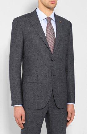 Мужской шерстяной костюм SARTORIA LATORRE синего цвета, арт. A057EF U60293 | Фото 2