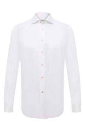 Мужская хлопковая сорочка KITON белого цвета, арт. UCIH0660711 | Фото 1