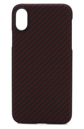 Мужской чехол для iphone x/xs PITAKA красного цвета, арт. KI8003X | Фото 1