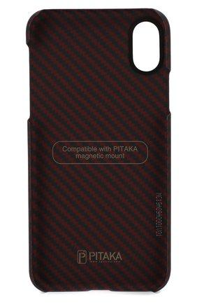 Мужской чехол для iphone x/xs PITAKA красного цвета, арт. KI8003X | Фото 2