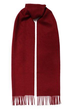Мужской кашемировый шарф JOHNSTONS OF ELGIN бордового цвета, арт. WA000016 | Фото 1
