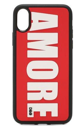 Мужской чехол для iphone x/xs DOLCE & GABBANA красного цвета, арт. BI2418/AA235 | Фото 1