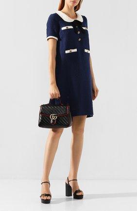 Женская сумка gg marmont small GUCCI черного цвета, арт. 498110/00LFX | Фото 2