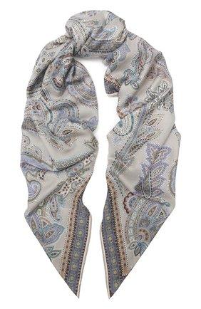 Женский платок из смеси кашемира и шелка MICHELE BINDA разноцветного цвета, арт. 25WS36350 | Фото 1
