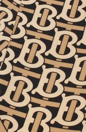 Женская шелковый платок для волос BURBERRY черного цвета, арт. 8017502 | Фото 2
