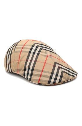 Женская хлопковое кепи BURBERRY бежевого цвета, арт. 8016889 | Фото 1