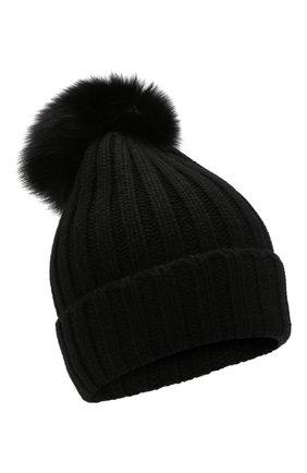 Женский шапка из смеси шерсти и вискозы NIMA черного цвета, арт. C001/SHAD0W F0X | Фото 1
