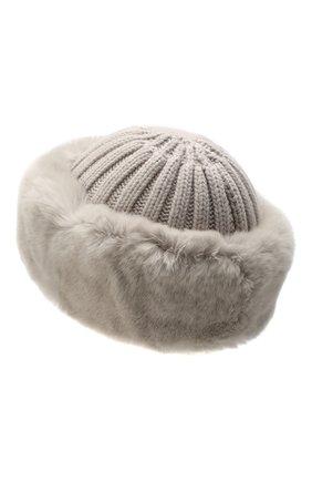 Женский шапка из смеси шерсти и вискозы NIMA светло-бежевого цвета, арт. C004/REX | Фото 2