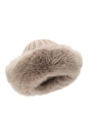Женский шапка из смеси шерсти и вискозы NIMA темно-бежевого цвета, арт. C004/SHAD0W F0X | Фото 1
