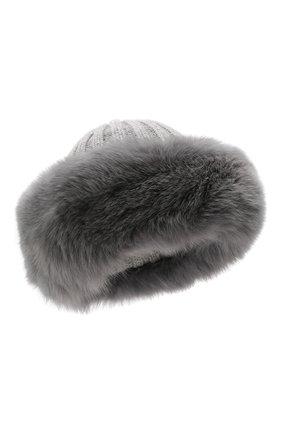 Женский шапка из смеси шерсти и вискозы NIMA серого цвета, арт. C004/SHAD0W F0X | Фото 1