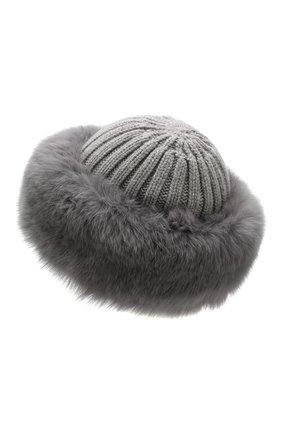 Женский шапка из смеси шерсти и вискозы NIMA серого цвета, арт. C004/SHAD0W F0X | Фото 2
