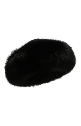 Женский шапка из смеси шерсти и вискозы NIMA черного цвета, арт. C004/SHAD0W F0X | Фото 1