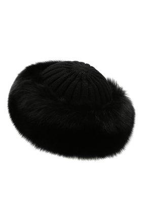 Женский шапка из смеси шерсти и вискозы NIMA черного цвета, арт. C004/SHAD0W F0X | Фото 2