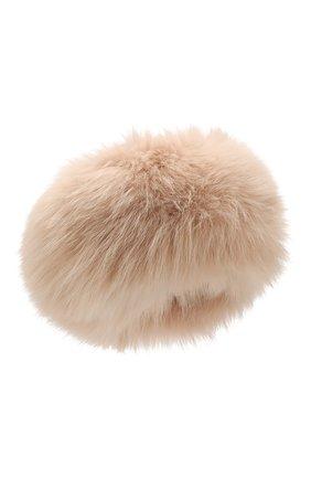Женский шапка из меха кролика и лисицы NIMA бежевого цвета, арт. CP02/SHAD0W F0X + REX | Фото 1