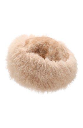 Женский шапка из меха кролика и лисицы NIMA бежевого цвета, арт. CP02/SHAD0W F0X + REX | Фото 2