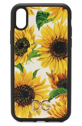 Мужской чехол для iphone xr DOLCE & GABBANA желтого цвета, арт. BI2516/AA590 | Фото 1