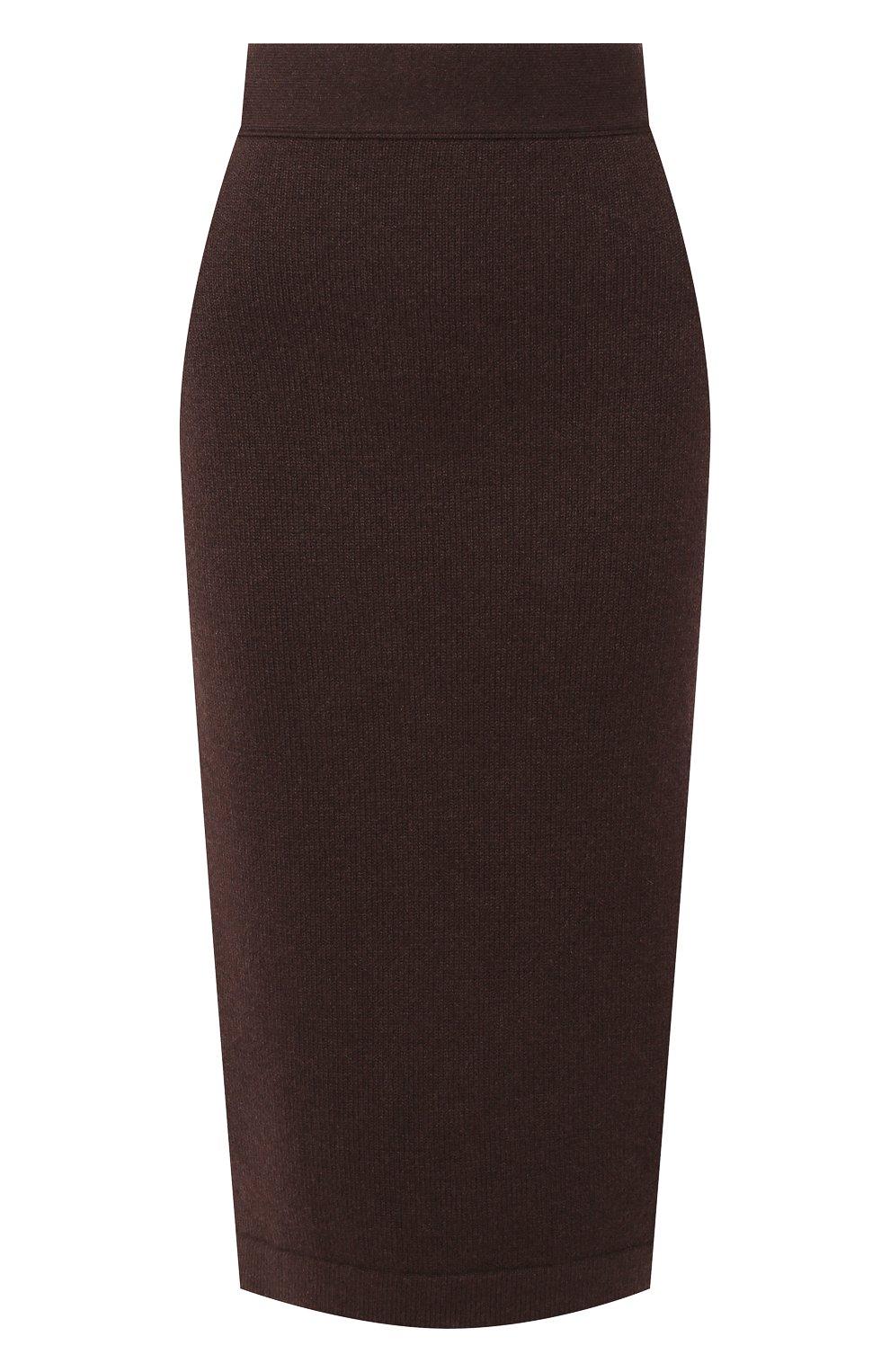 Женская кашемировая юбка TOM FORD коричневого цвета, арт. GCK079-YAX226 | Фото 1