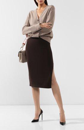 Женская кашемировая юбка TOM FORD коричневого цвета, арт. GCK079-YAX226 | Фото 2