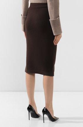 Женская кашемировая юбка TOM FORD коричневого цвета, арт. GCK079-YAX226 | Фото 4