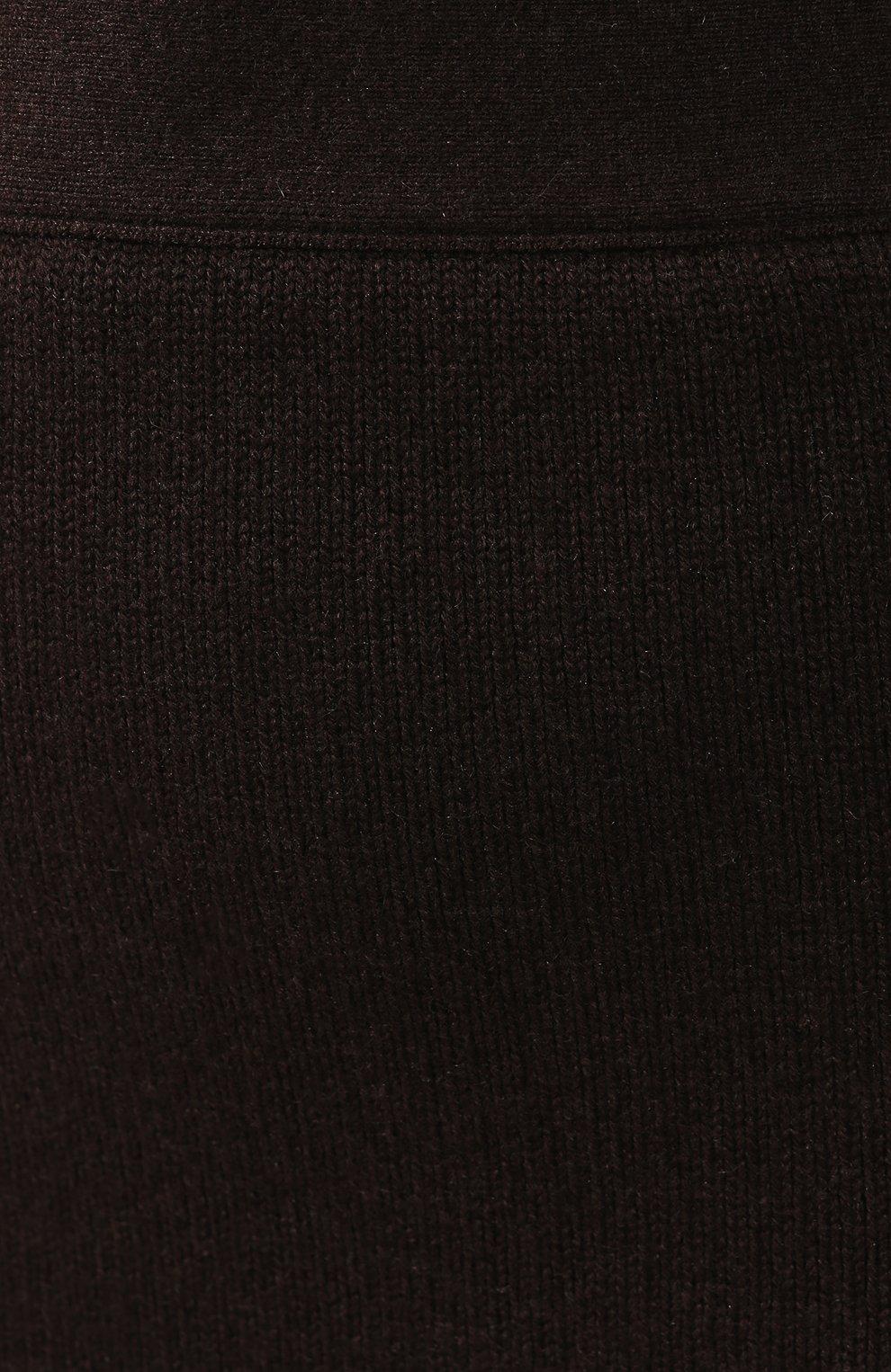 Женская кашемировая юбка TOM FORD коричневого цвета, арт. GCK079-YAX226 | Фото 5