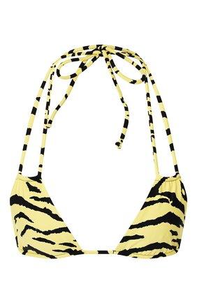Женский бра с принтом SAINT LAURENT желтого цвета, арт. 553630/Y317V | Фото 1