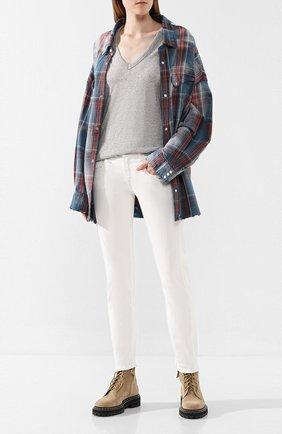 Женские джинсы R13 белого цвета, арт. R13W0086-572 | Фото 2