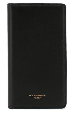 Мужской кожаный чехол для iphone x/xs DOLCE & GABBANA черного цвета, арт. BP2532/AZ607 | Фото 1