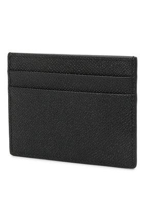Мужской кожаный футляр для кредитных карт BURBERRY черного цвета, арт. 8014662 | Фото 2