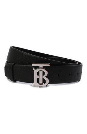 Мужской кожаный ремень BURBERRY черного цвета, арт. 8015599 | Фото 1