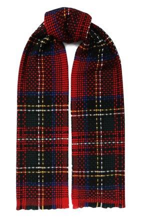 Мужской кашемировый шарф JOHNSTONS OF ELGIN красного цвета, арт. WA001229 | Фото 1