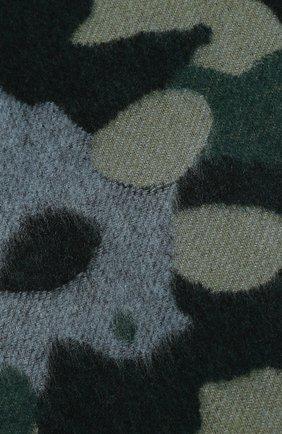 Мужской шарф из смеси кашемира и шерсти JOHNSTONS OF ELGIN зеленого цвета, арт. WB001518 | Фото 2