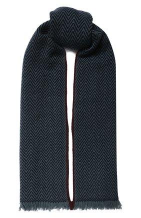 Мужской кашемировый шарф LORO PIANA темно-синего цвета, арт. FAI2250 | Фото 1