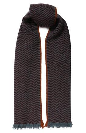 Мужской кашемировый шарф LORO PIANA бордового цвета, арт. FAI2250 | Фото 1