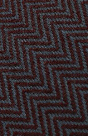 Мужской кашемировый шарф LORO PIANA бордового цвета, арт. FAI2250 | Фото 2
