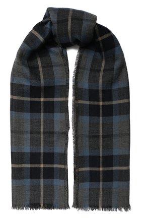 Мужской кашемировый шарф LORO PIANA синего цвета, арт. FAI7997 | Фото 1